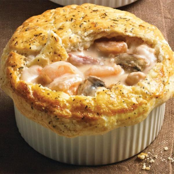 Tuscan Shrimp Pot Pie