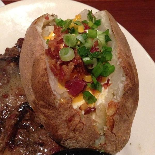 Loaded Baked Potato. « Back To Wood Ranch, Agoura Hills ... - Loaded Baked Potato - Wood Ranch, View Online Menu And Dish Photos