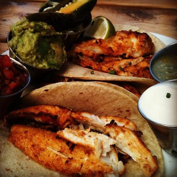 fried or grilled fish tacos - Geer Street Garden