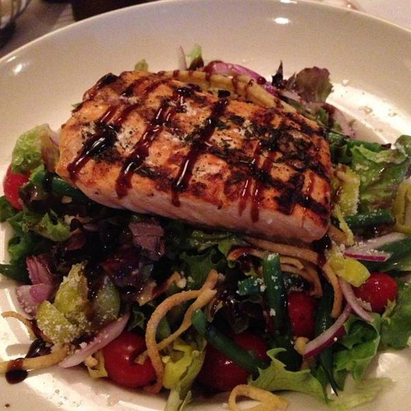 Grilled Salmon Salad Maggianos Little Italy View Online Menu And Dish Photos At Zmenu