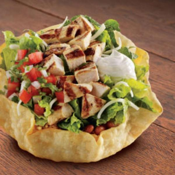 CHICKEN TOSTADA SALAD (NO DRESSING, NO SHELL), El Pollo Loco, Torrance ...