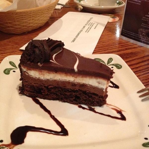 black tie mousse cake - Olive Garden Puyallup