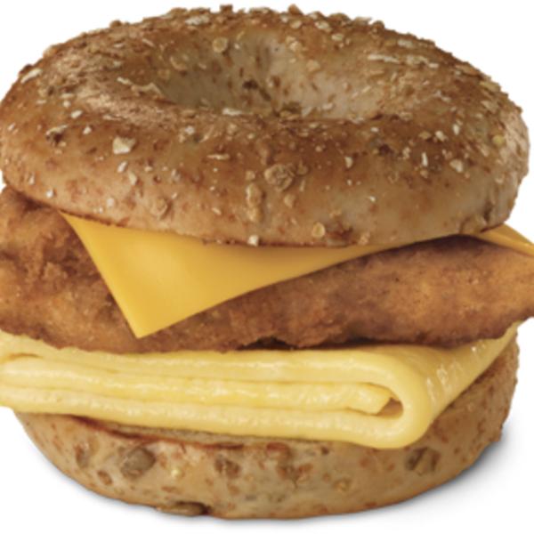 Chicken Egg Cheese On Sunflower Multigrain Bagel Chick Fil A