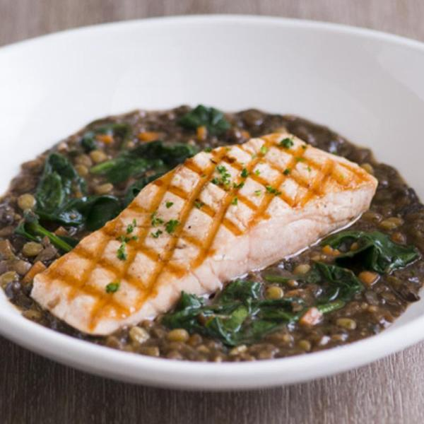 Grilled Salmon French Lentils Mimi S Cafe