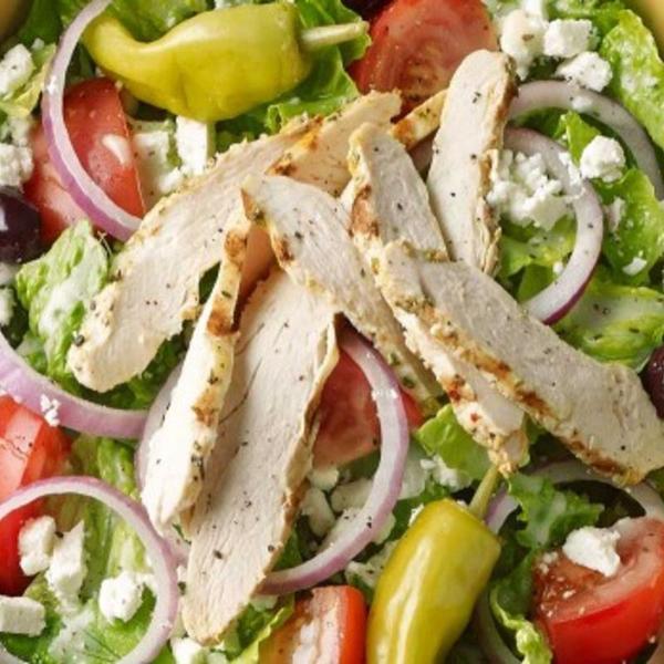, antibiotic-free chicken, romaine lettuce, vine-ripened tomatoes ...
