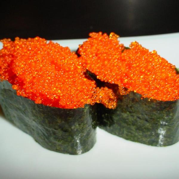 Tobiko flying fish roe nigiri 8 sushi zmenu for Flying fish roe