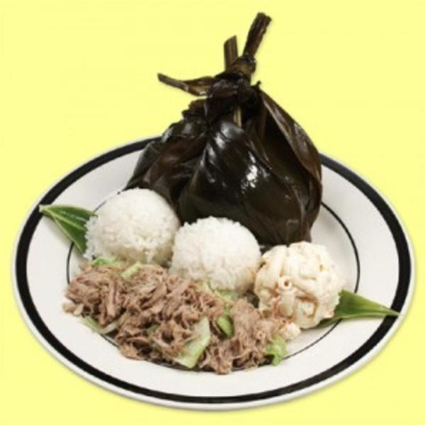 Hawaiian Plate Lau Lau Kalua Pork L L Hawaiian Barbecue View Online Menu And Dish Photos At Zmenu