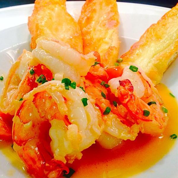 Colossal Shrimp Sauté, Tabasco Cream Sauce - Ocean Prime