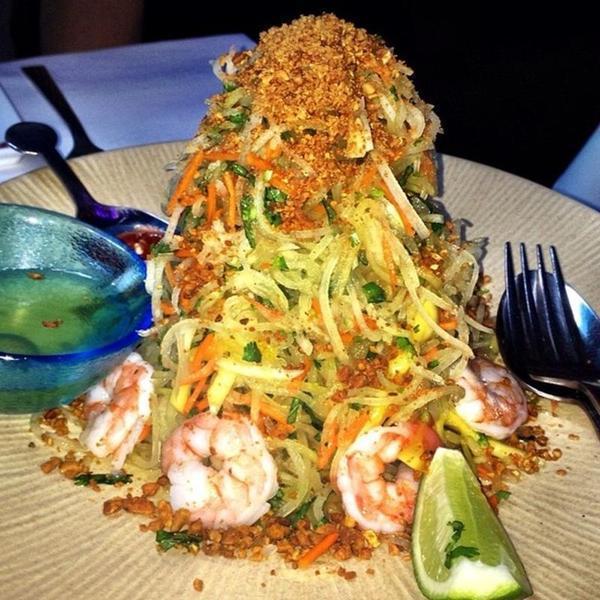 Papaya Salad Back To Xanh Restaurant Mountain View Ca