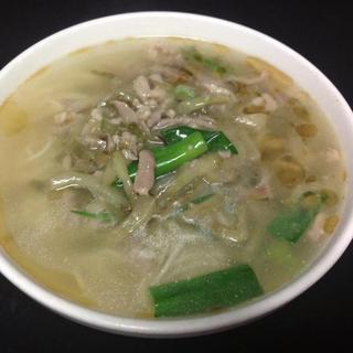 preserved-vegetable-w/-pork-noodle-soup
