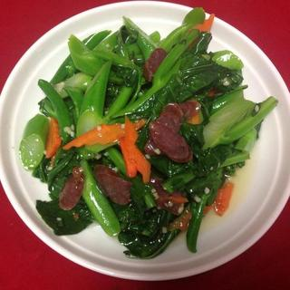 pan-fried-chinese-broccoli-and-salted-chinese-bacons