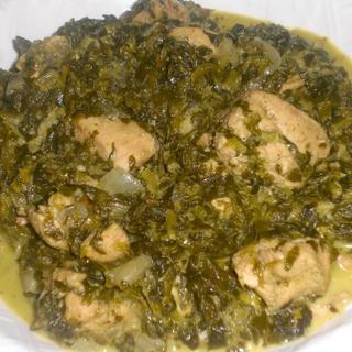 chicken-saag
