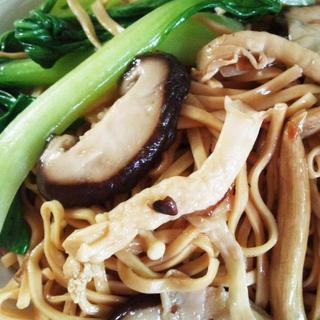 mushroom-with-oyster-sause-noodle