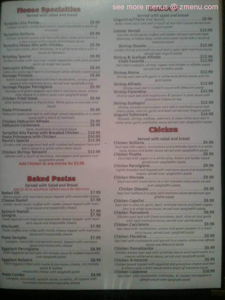 Roma Italian Restaurant Hugo Ok