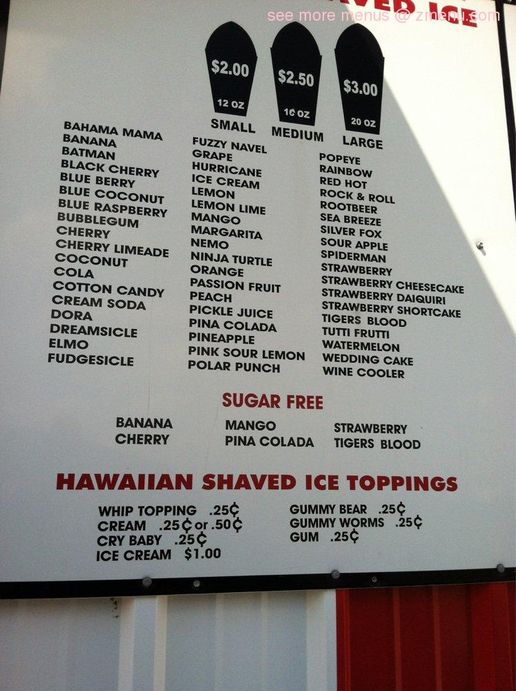 online menu of carnival of ice restaurant lawton oklahoma 73505