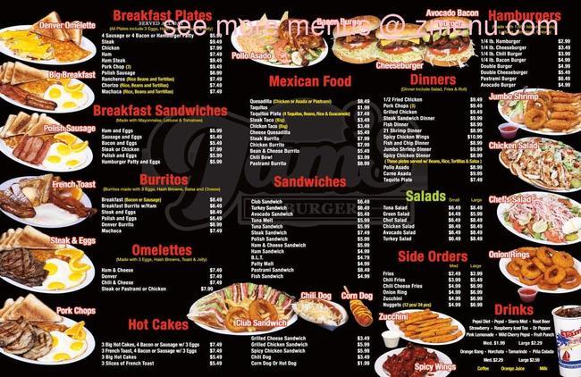 Tams Near Me >> Online Menu Of Tams Burgers Restaurant Paramount