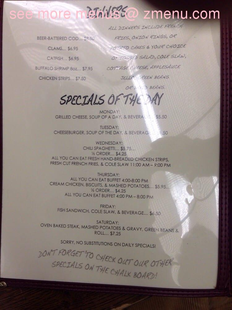Rob S Restaurant In Brookville Ohio Menu