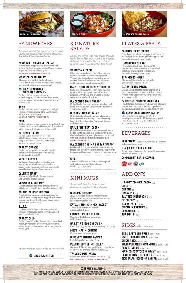 Online Menu of Mugshots Grill & Bar Restaurant, Meridian