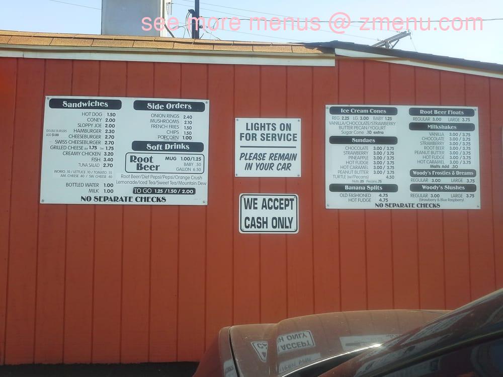 online menu of woody s root beer stand restaurant canton ohio