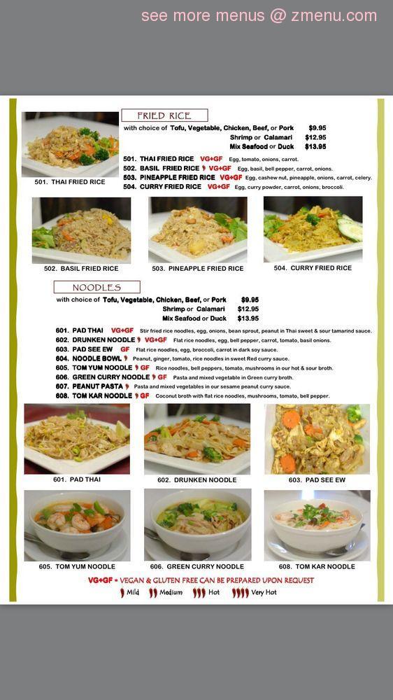 Thai Restaurant Starkville Ms Menu