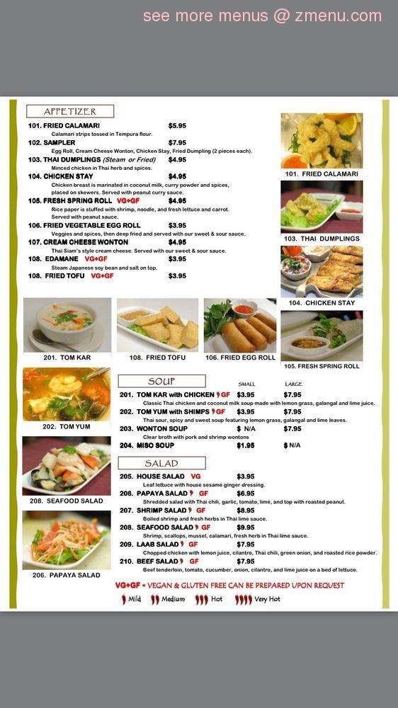 Thai Restaurant Starkville Ms Menu