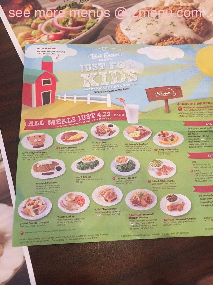 image relating to Bob Evans Printable Menu known as On-line Menu of Bob Evans Cafe, Columbus, Ohio, 43212