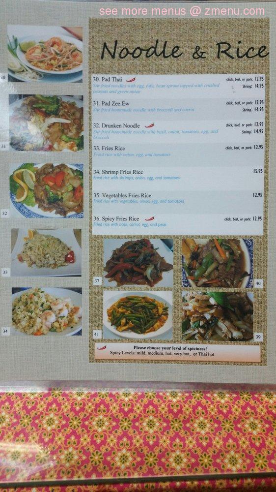 Thai Restaurant North Pole Ak Menu