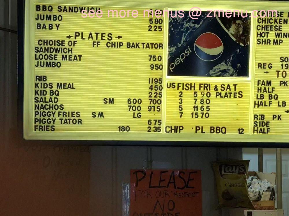 Online Menu of Oinkys Barbecue Restaurant, Paragould ...