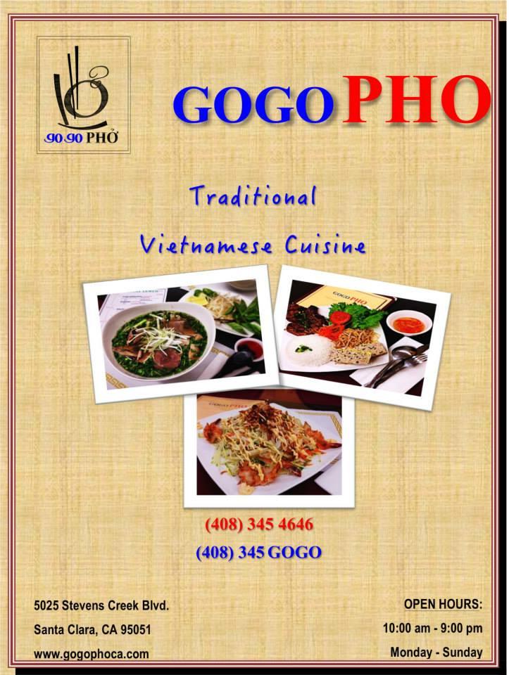 Online Menu of GOGO Pho Restaurant, Santa Clara, California
