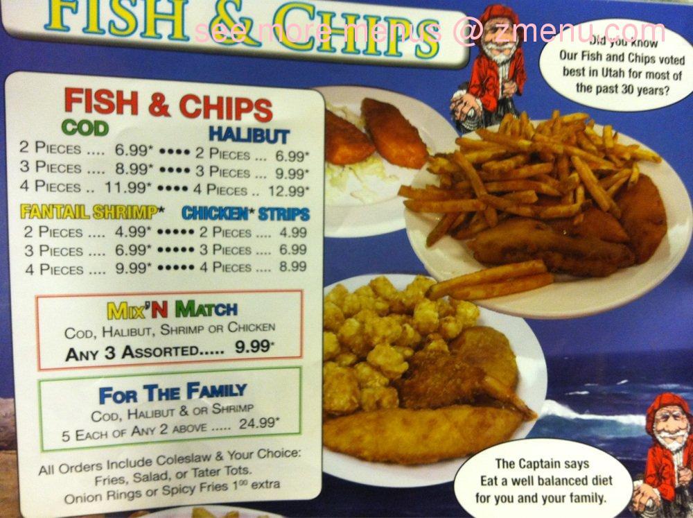 Online menu of virg 39 s family restaurant closed for Chucks fish menu