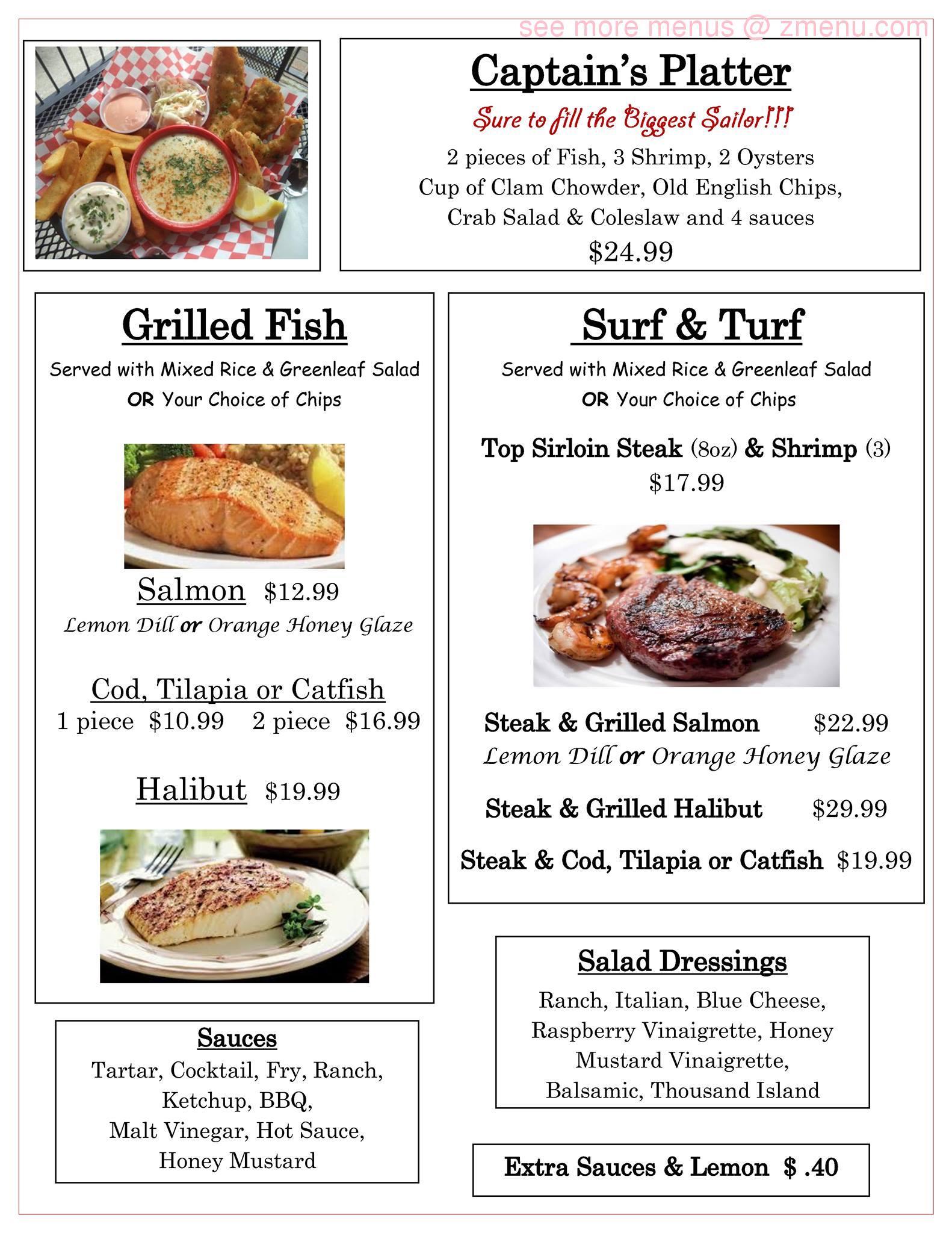 Online menu of sea bears fish house grill restaurant for Fish house menu
