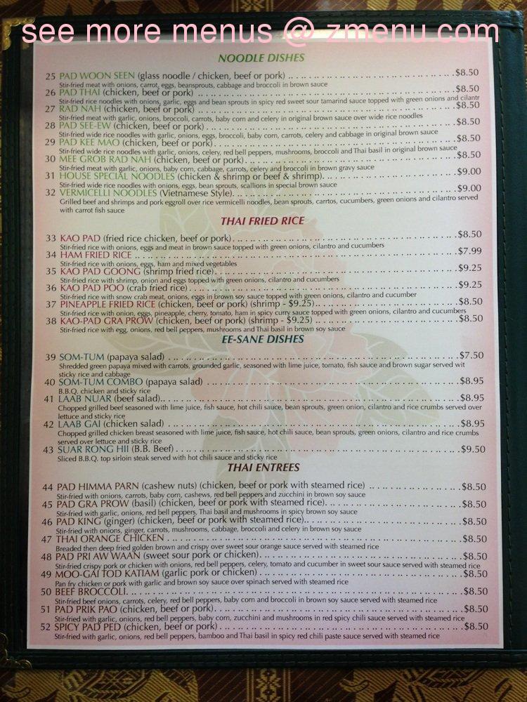 Thai Restaurant Springville Utah