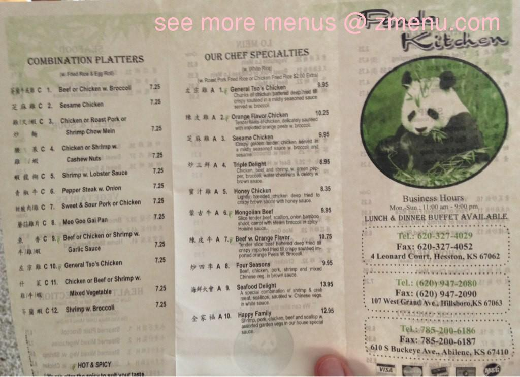 Panda Kitchen Menu | Online Menu Of Panda Kitchen Restaurant Hesston Kansas 67062