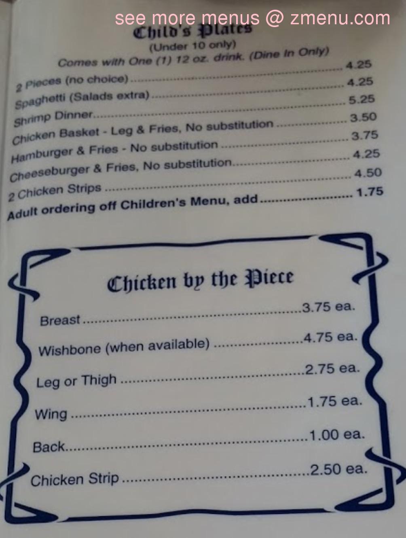 Online Menu of Pichlers Chicken Annies Restaurant ...