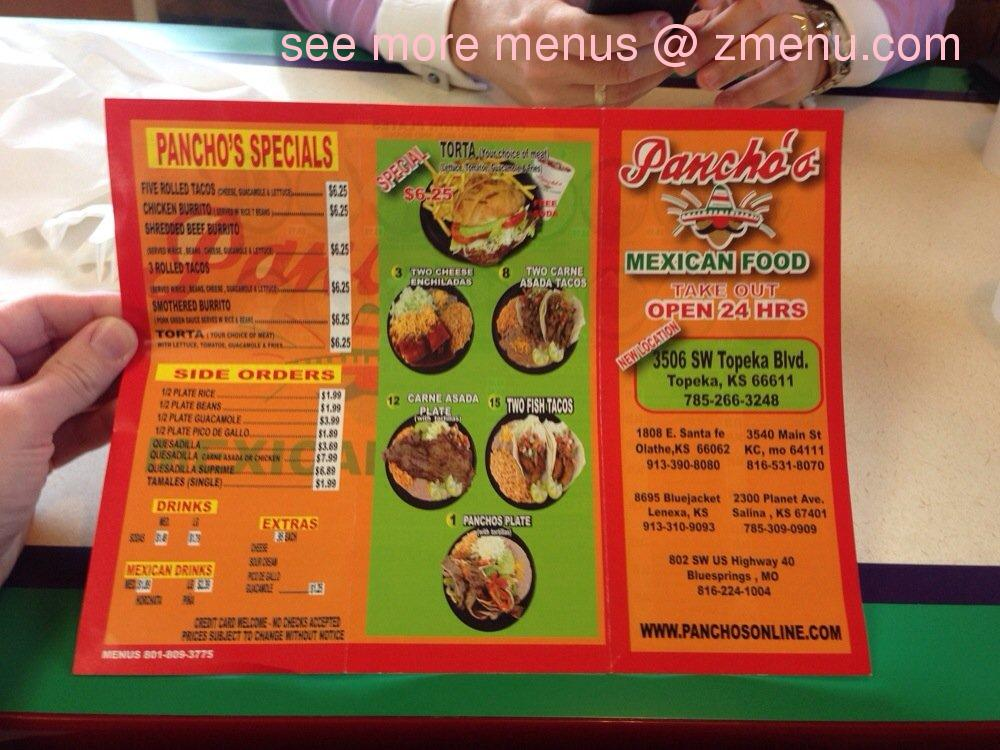 Panchos Mexican Restaurant Kansas City Menu