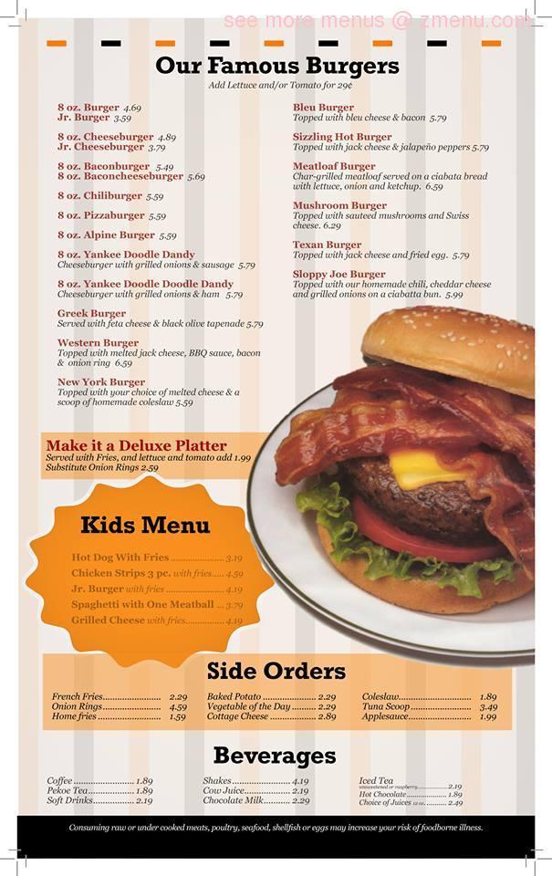Online Menu Of Yankee Kitchen Restaurant Restaurant Vienna Ohio 44473 Zmenu