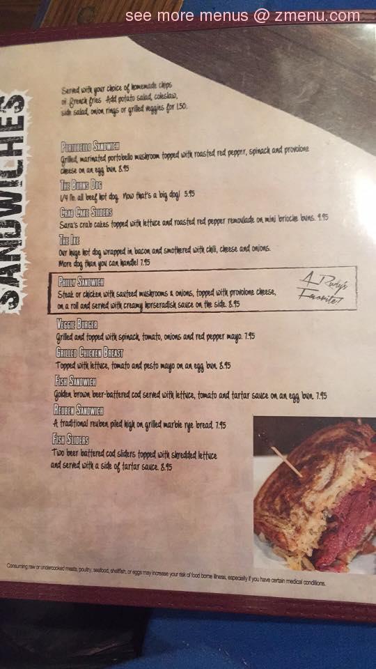 Online Menu of Rudys Bar & Grill Restaurant, Vermilion, Ohio