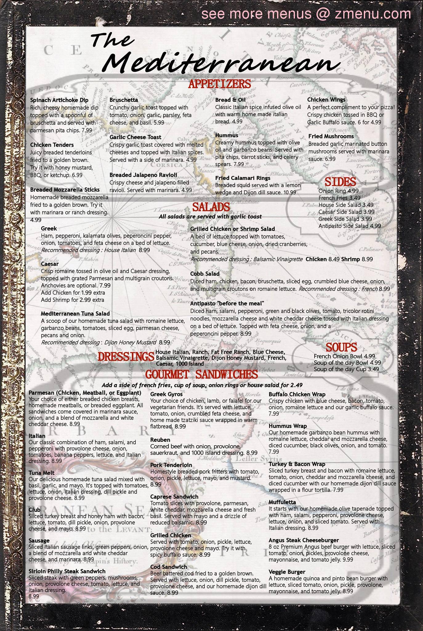 Online Menu of Mediterranean Restaurant & Cafe Restaurant ...