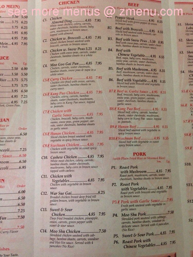 Online Menu Of King Garden Chinese Restaurant Restaurant Zanesville Ohio 43701 Zmenu