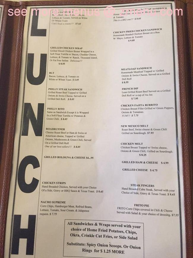 La Fonda Restaurant Menu Artesia Nm