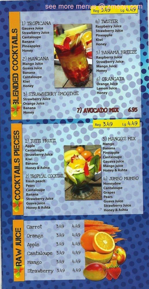 Froot Cafe Menu
