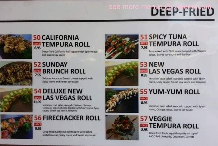 Mangos Cafe Sushi Menu