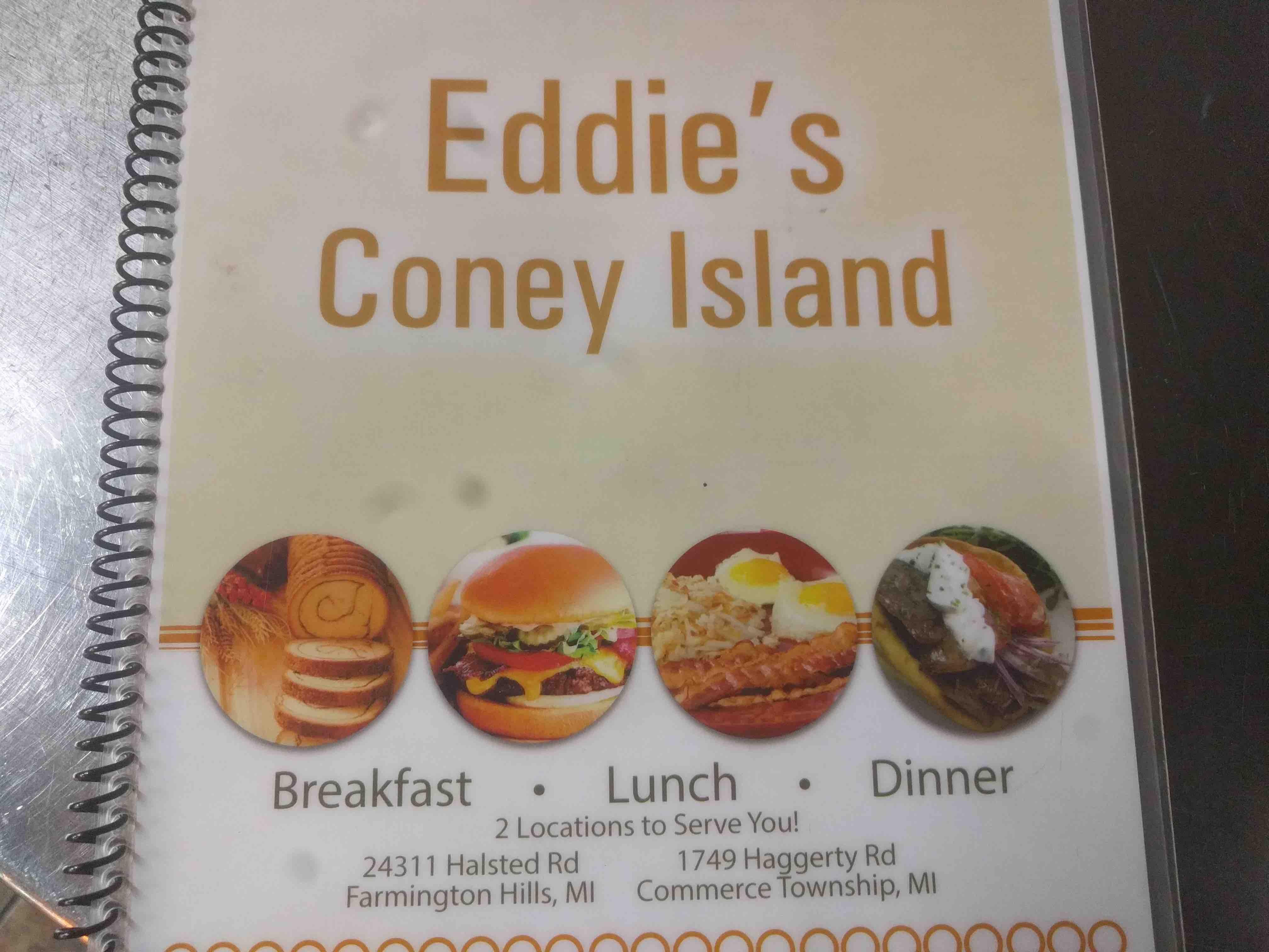 Eddie S Coney Island Farmington Menu