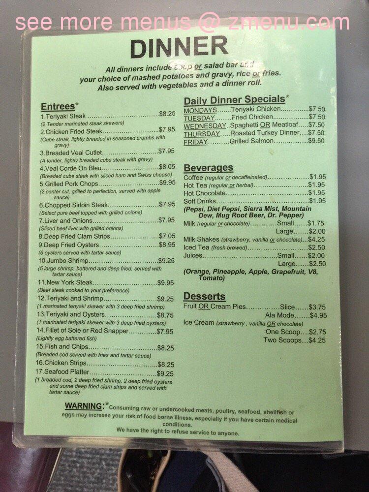 Online Menu of Little Pat\'s Place Restaurant, Burien, Washington ...