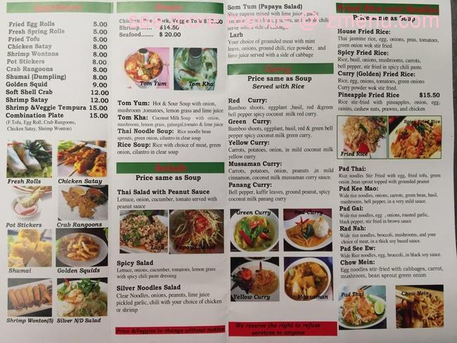 Online Menu Of A Taste Of Thai Restaurant Hailey Idaho 83333