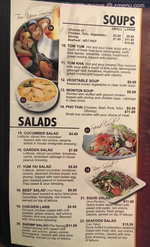 Online Menu Of Thai Kitchen Restaurant Idaho Falls Idaho 83404 Zmenu