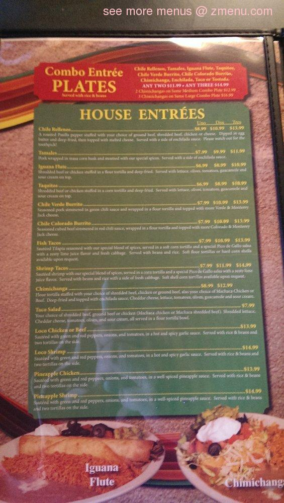 Menu At Chang S Garden Restaurant Pocatello