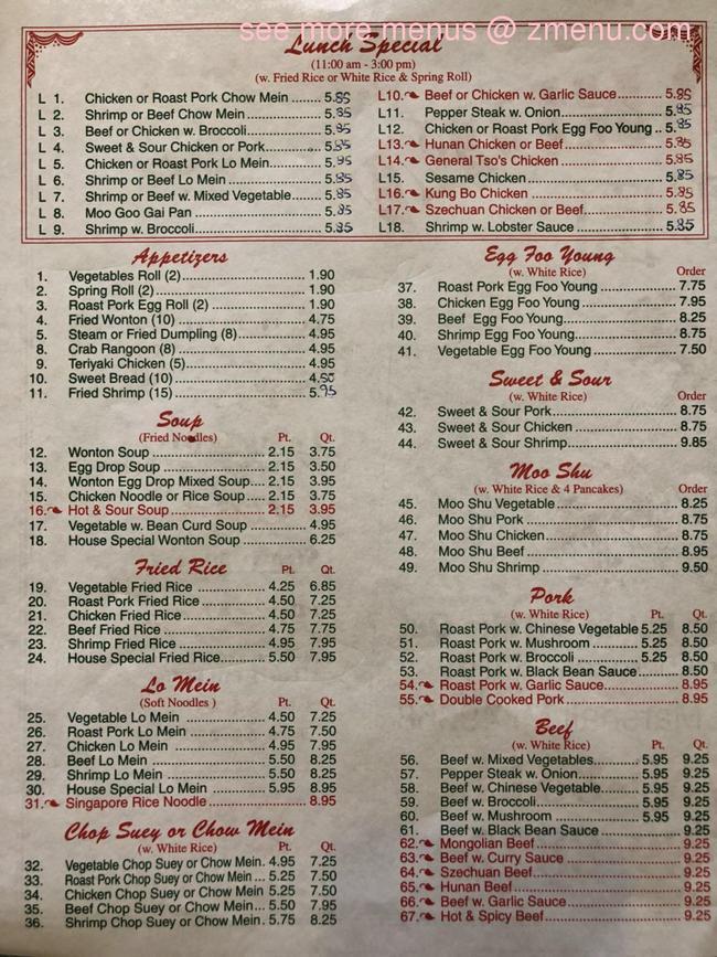 Online Menu Of Jade Garden Restaurant