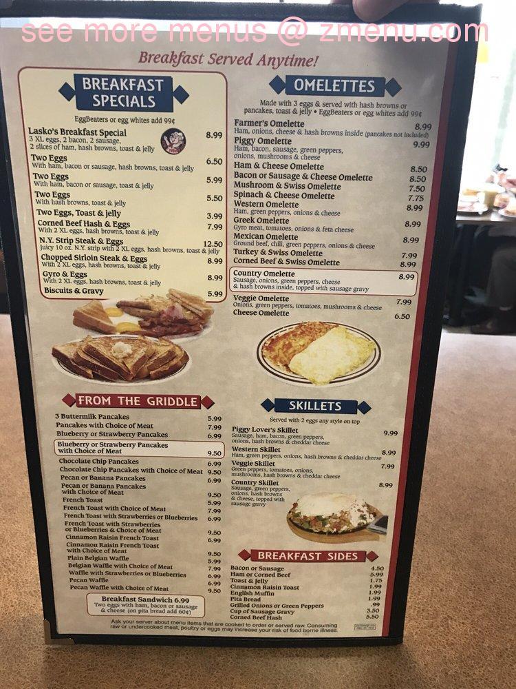 Lasko S Restaurant  Washington St Midland Mi  Menu