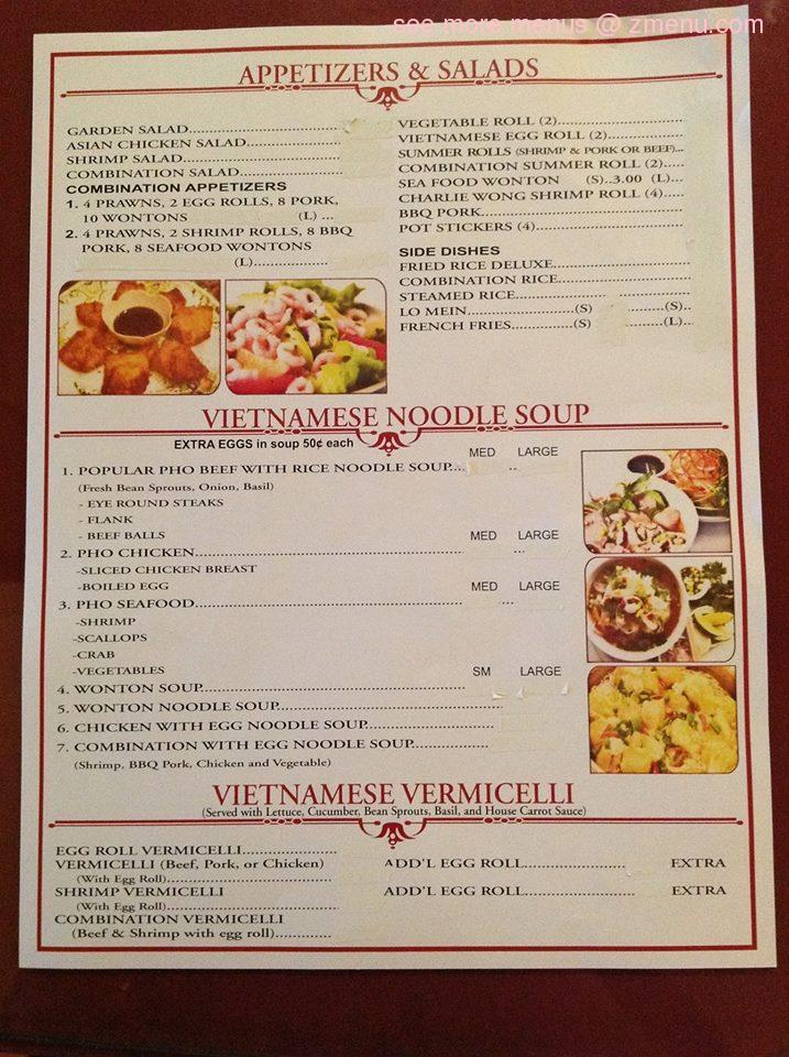 Online Menu Of Charlie Wongs Restaurant Restaurant Kalispell